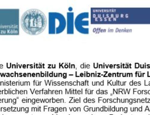 NRW Forschungsnetzwerk sucht Forscher