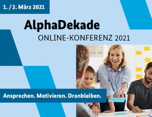 Einladung zur AlphaDekade-Konferenz am 01. und 02. März 2021
